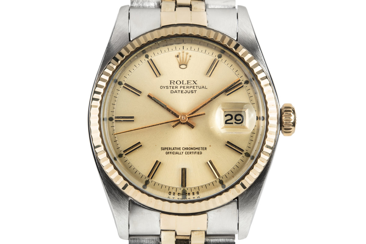 1974 Rolex Two Tone DateJust 1601 with Gold Sigma Dial photo, #0