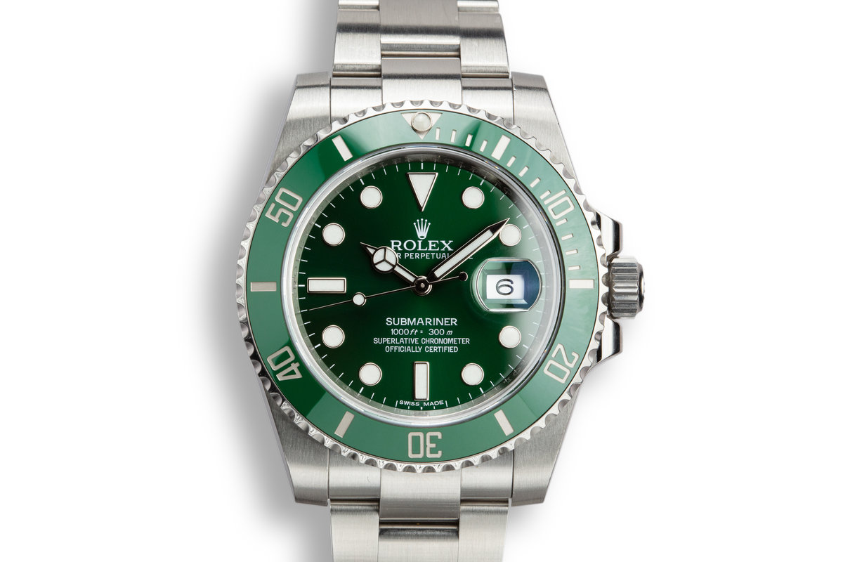 "2015 Rolex Submariner 116610LV ""Hulk"" with Box and Papers photo, #0"