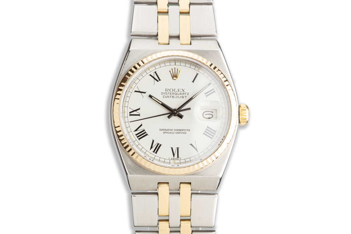 1979 Rolex Two Tone OysterQuartz DateJust 17013 with White Roman Numeral Dial photo, #0