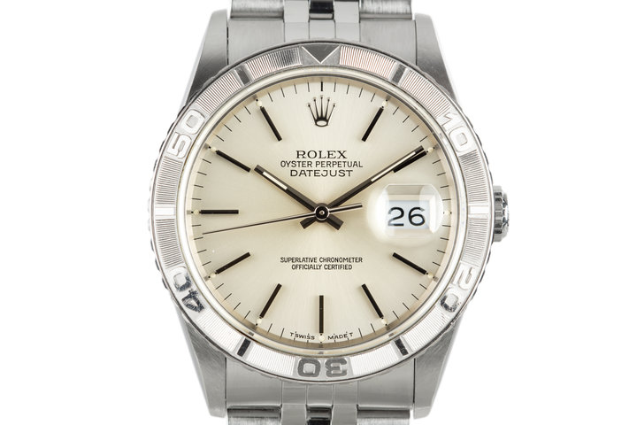 "1991 Rolex DateJust ""Thunderbird"" 16264 Silver Dial photo"