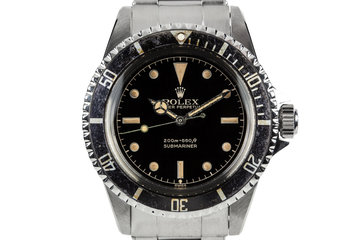 1962 Rolex Submariner 5512 with Chapter Ring Exclamation Gilt Dial photo