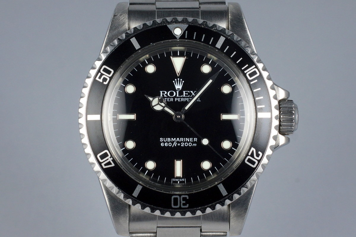 1985 Rolex Submariner 5513 Service Dial photo, #0