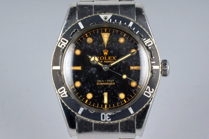 1959 Rolex Submariner 6536-1 Glossy Gilt Chapter Ring Dial with Papers photo