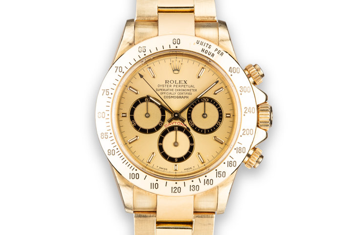 1991 Rolex 18K YG Daytona 16528 photo