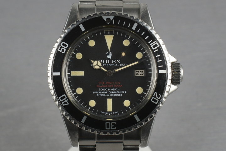Rolex Double Red Sea Dweller 1665 thin case with Mark 3 dial photo