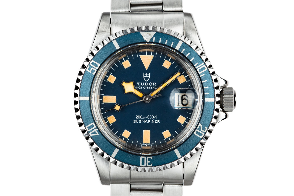 1980 Tudor Snowflake Submariner 94110 Blue photo, #0