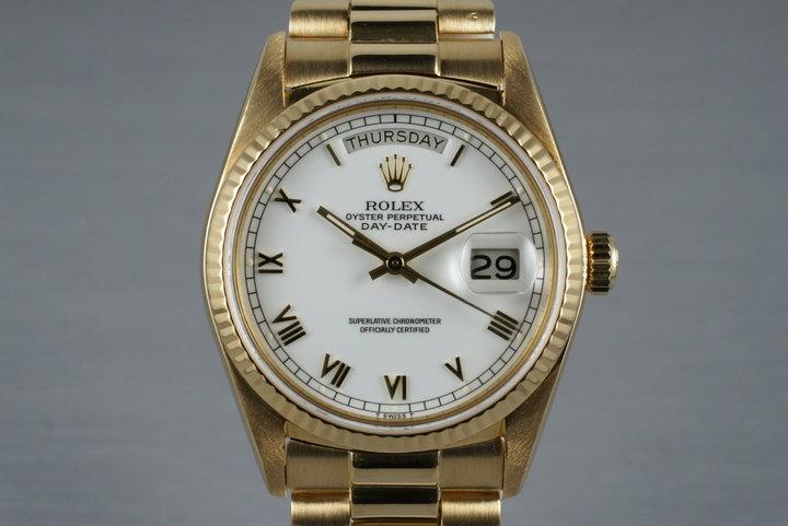 1984 Rolex 18K Day-Date 18038 photo