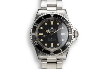 1970 Rolex Submariner 5513 Serif Dial photo