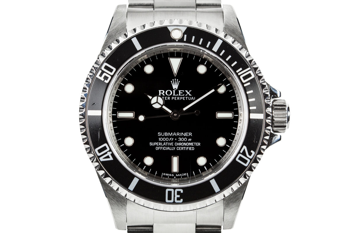 2012 Rolex Submariner 14060M with Box and Papers with 4 Line Dial photo, #0