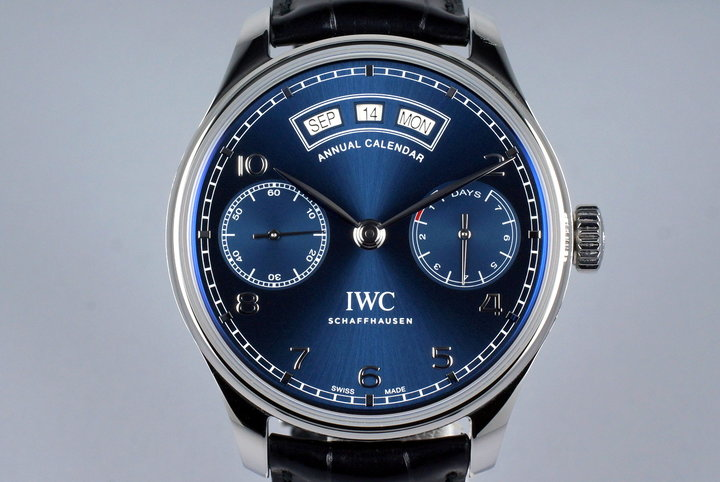 2016 IWC Annual Calendar IW503502 with Box and Papers photo