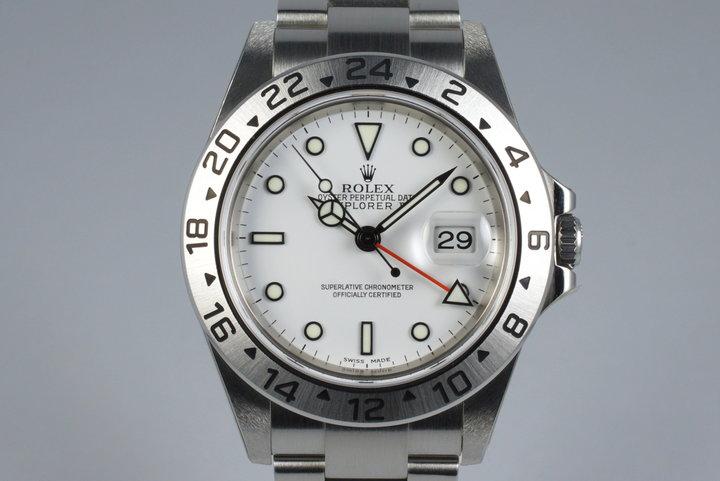 2006 Rolex Explorer II 16570 White Dial photo