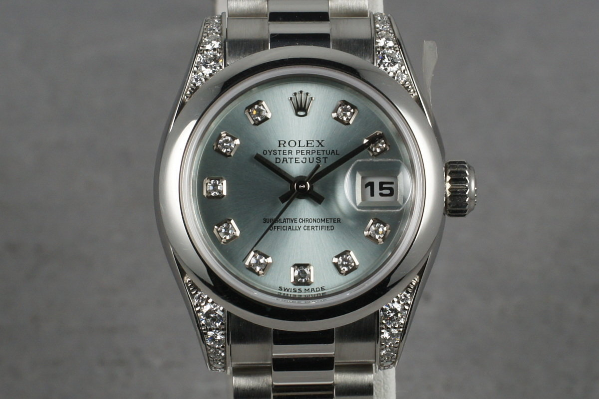 2001 Rolex Ladies Platinum President 179296 with Glacier Diamond Dial photo, #0
