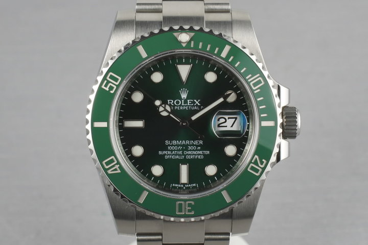 Ceramic Rolex GREEN Submariner 116610V photo