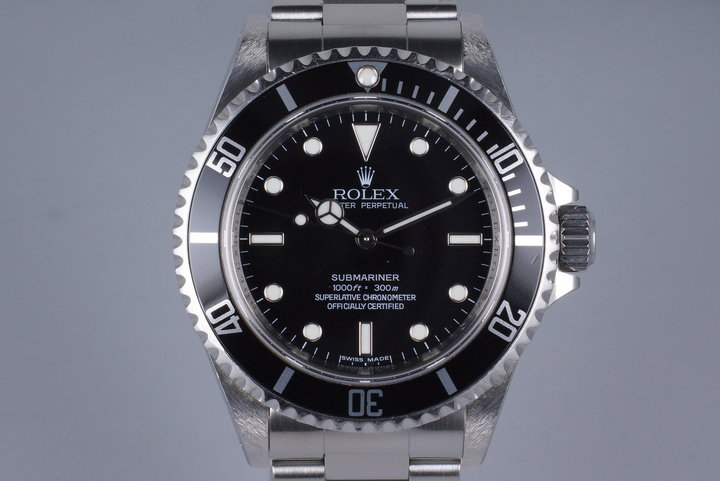 2007 Rolex Submariner 14060 4 Line with Box and Papers photo