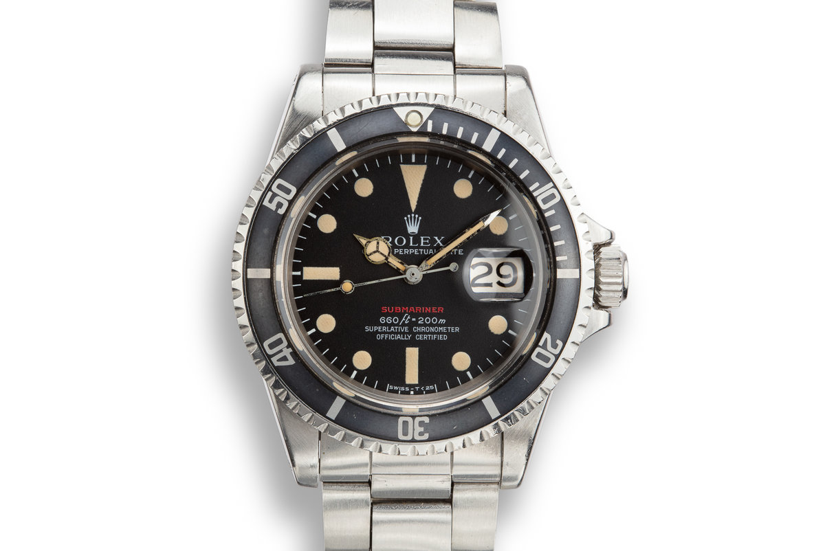 1970 Rolex Submariner 1680 with MK IV Red Dial photo, #0