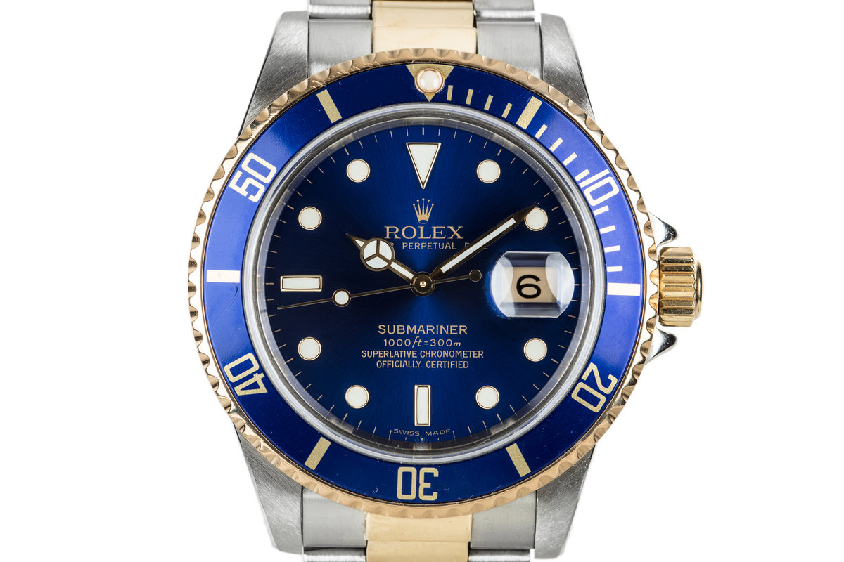 1985 Rolex Two Tone Submariner 16803 Blue DIal photo, #0