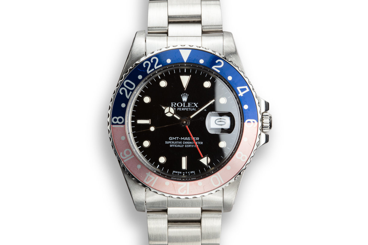 """1988 Rolex GMT-Master 16750 """"Pepsi"""" with Box and Papers photo, #0"""