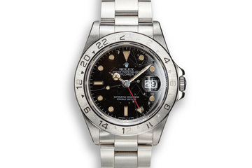 1991 Rolex Explorer II 16570 with Black Rail Dial photo
