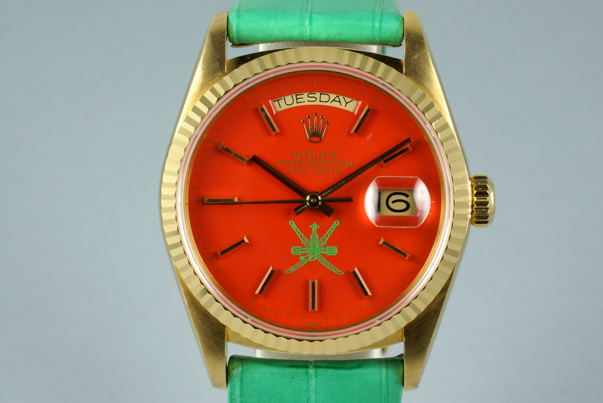 1987 YG Day-Date 18038 with Red Stella Oman Dial photo, #0