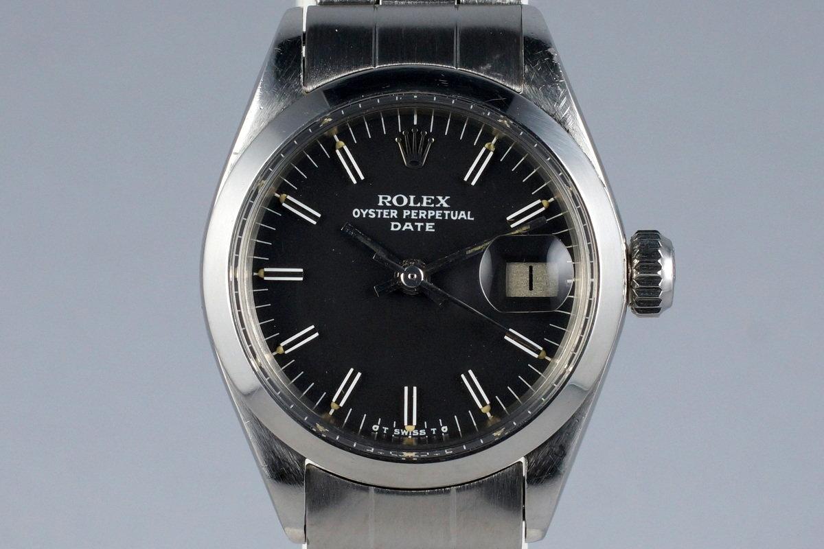 1972 Rolex Ladies Date 6916 Black Sigma Dial photo, #0