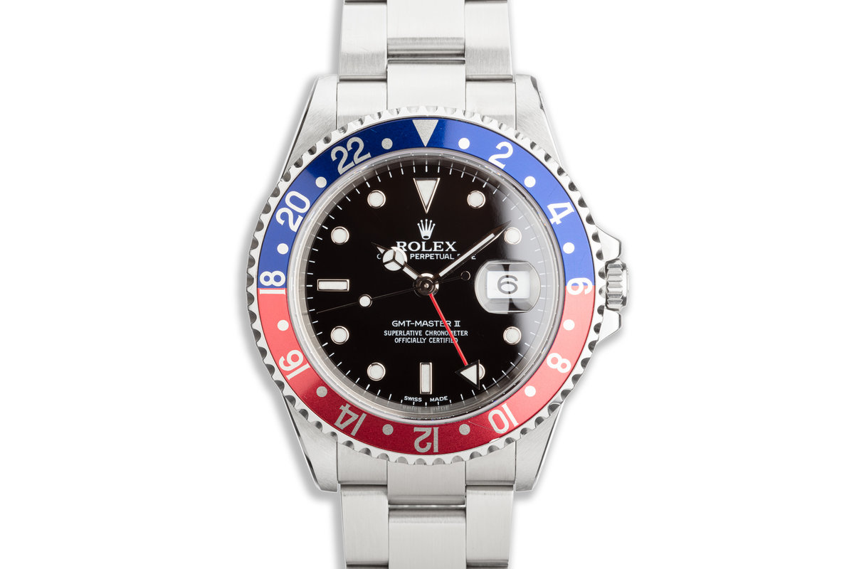 "2000 Rolex GMT-Master II 16710 ""Pepsi"" Bezel photo, #0"