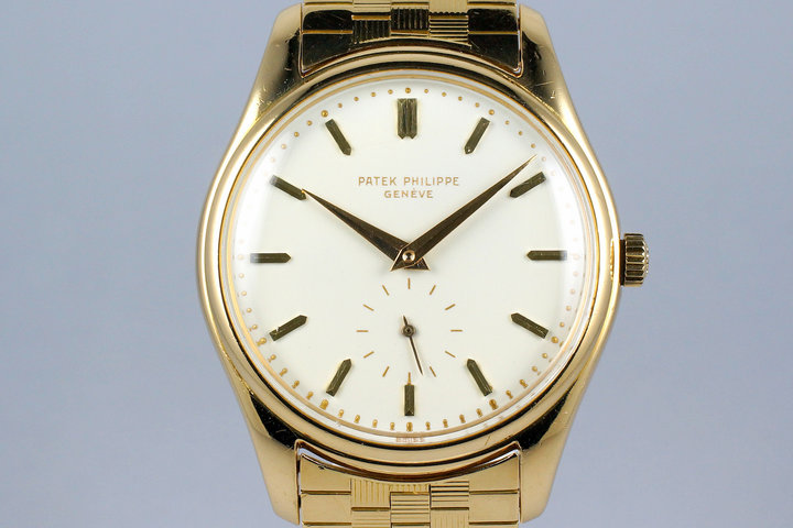 1955 YG Patek Philippe Calatrava 2526 Automatic with White Enamel Dial with Archive Papers photo