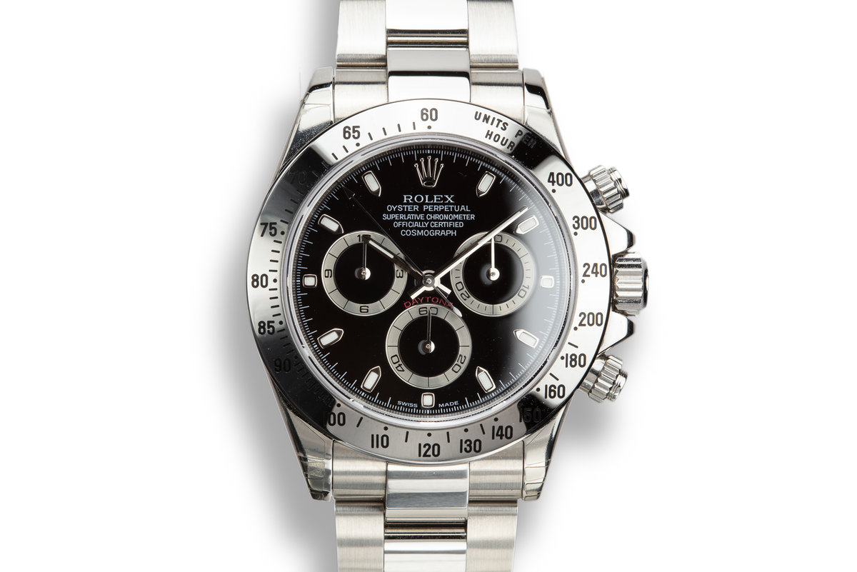 2003 Rolex Daytona 116520 Black Dial Still In Factory Protective Stickers with Box and Papers photo, #0