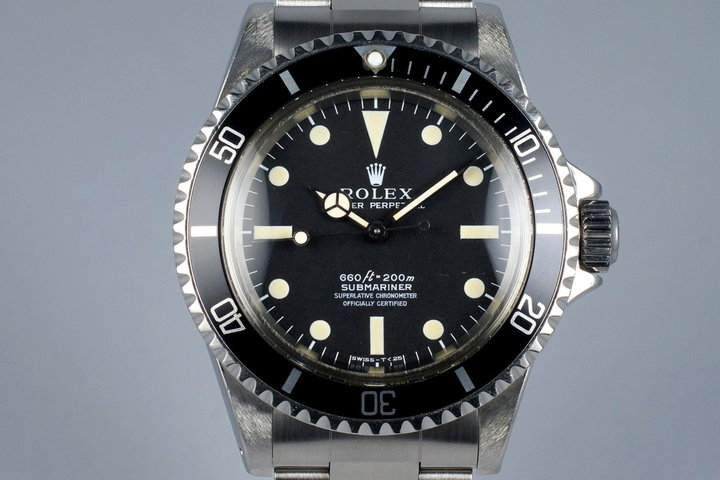 1972 Rolex Submariner 5512 4 Line Dial Serif Dial with RSC Papers photo