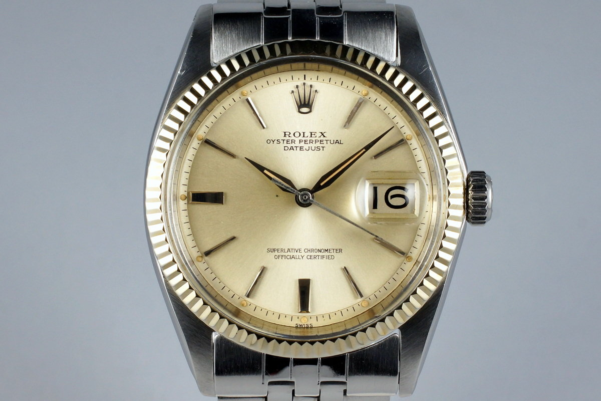 1962 Rolex DateJust 1601 Silver Dial Photo 0