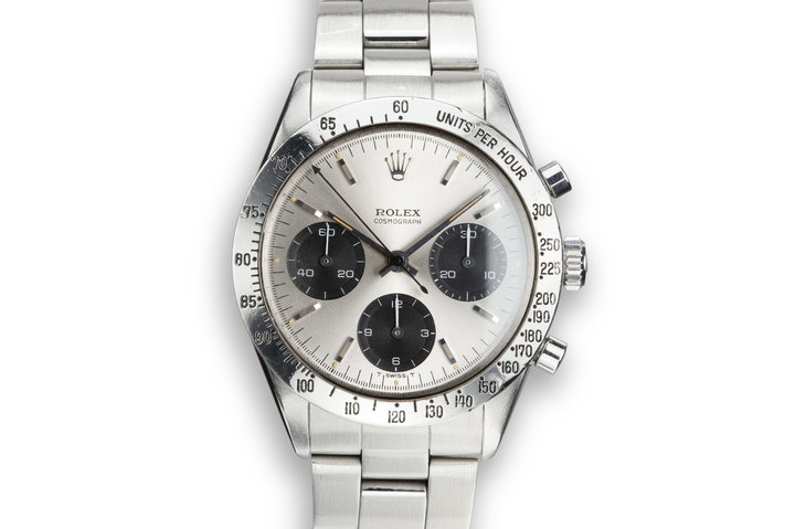 "1965 Rolex Daytona 6239 ""Long Hand"" Silver Dial with Guarantee photo"