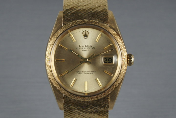 1982 Rolex Solid 18K Date 1514 with Rare Rolex Band photo