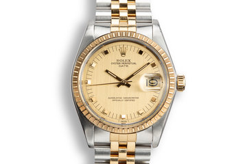 1978 Rolex Two-Tone Date 1505 Champagne Dial with Service Papers photo
