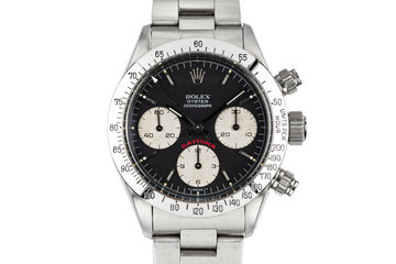 "1979 Rolex Daytona 6265 with ""Big Red"" Black Dial with Box and Papers photo"