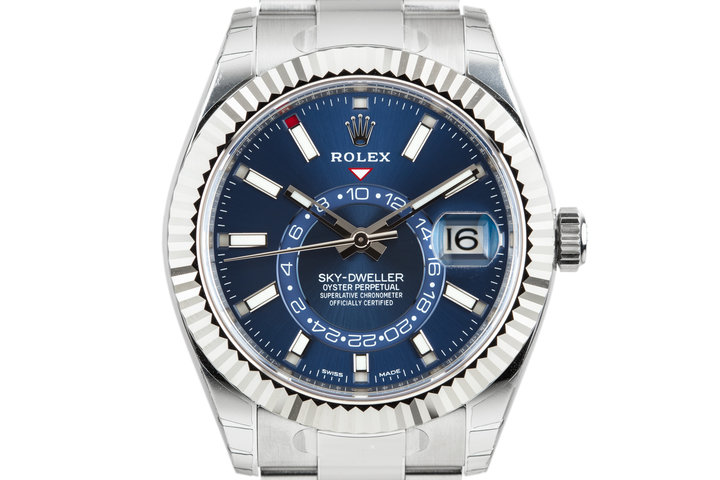 2017 MINT Rolex Sky-Dweller 326934 Blue Dial with Box and Papers photo
