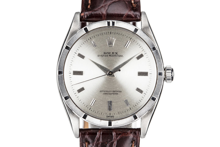 1956 Rolex Oyster Perpetual 6569 Swiss Only Silver Dial photo