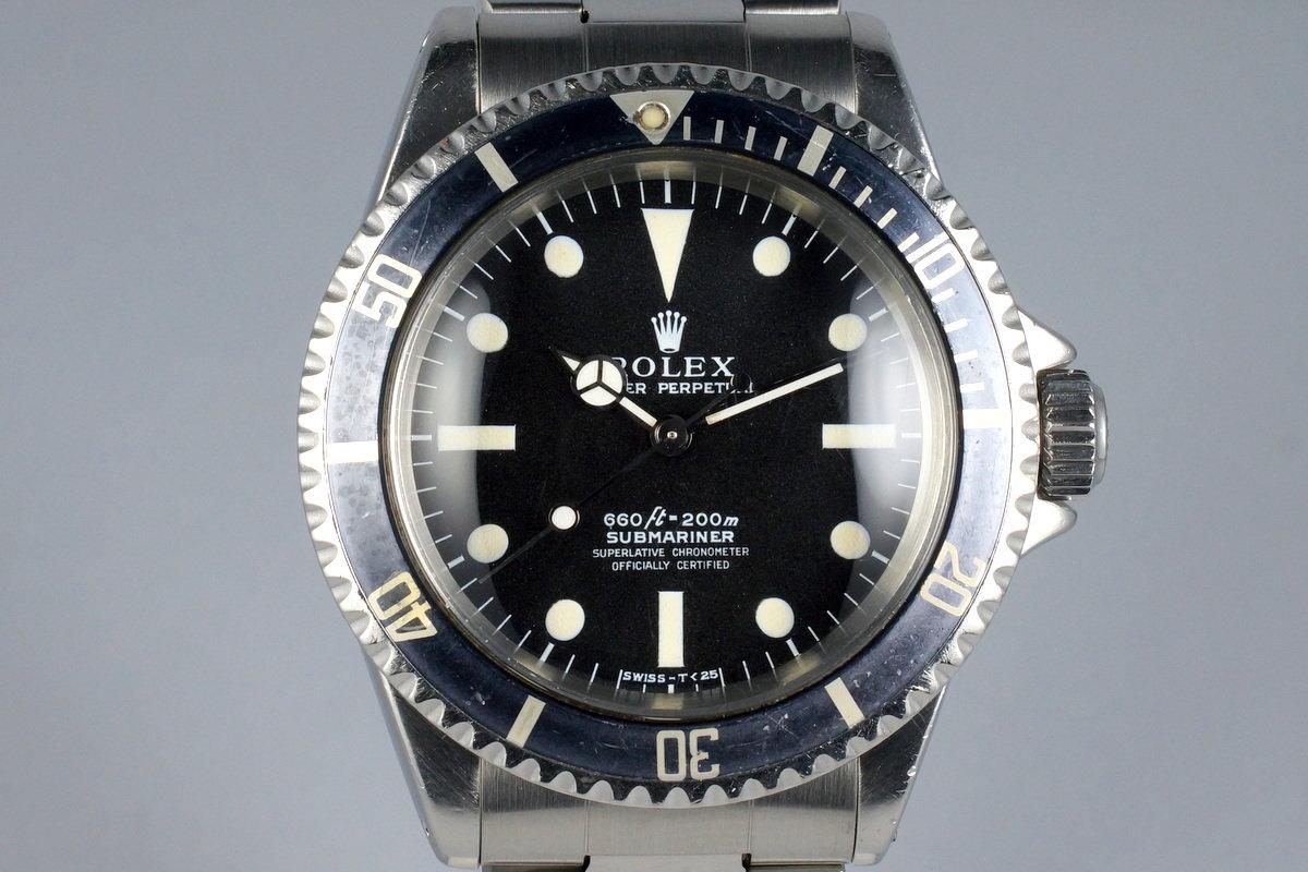 Hq Milton 1968 Vintage Rolex Submariner 5512 4 Line Serif Dial