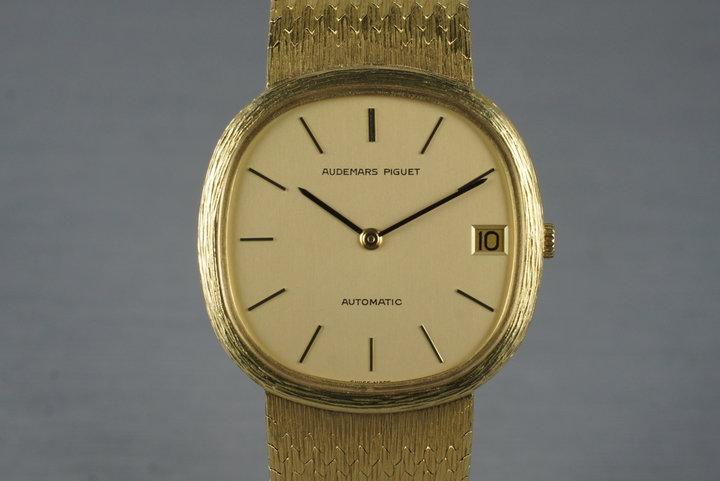 Vintage Audemars Piguet 18K with Mesh Bracelet photo