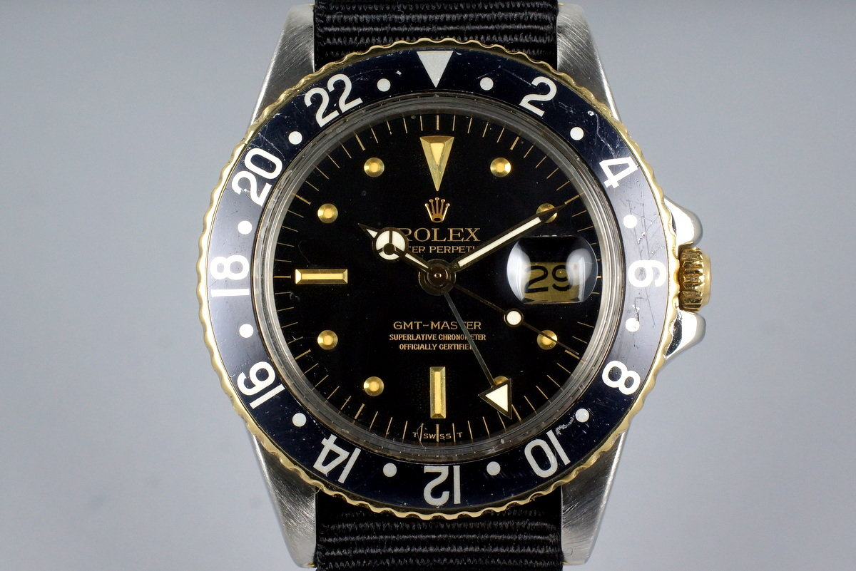 1979 Rolex Two Tone GMT 1675 Black Nipple Dial photo, #0
