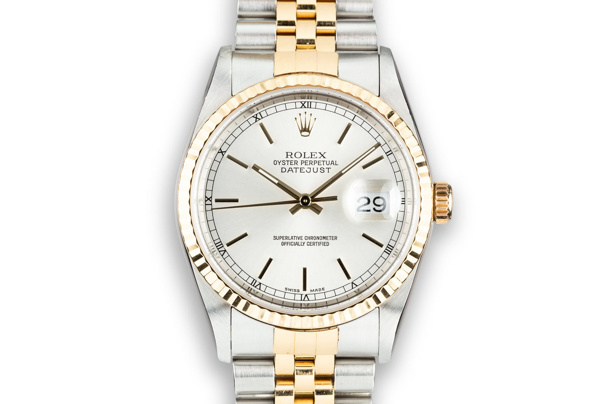 2002 Rolex Two-Tone DateJust 16233 Silver Dial photo, #0