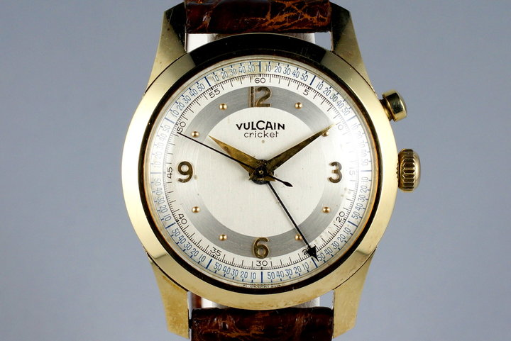 rg vulcain old school monochrome cricket watches