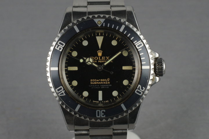 Rolex Submariner 5512 with Non Chapter Ring Gilt Dial photo