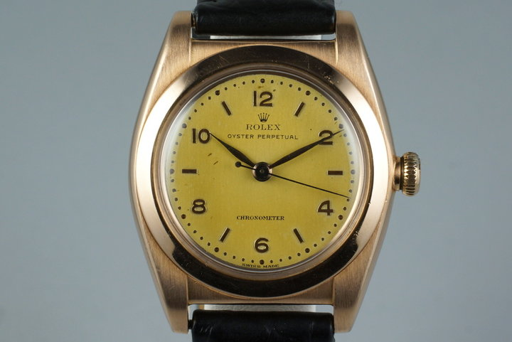 1946 Rolex RG Bubble Back 3131 photo