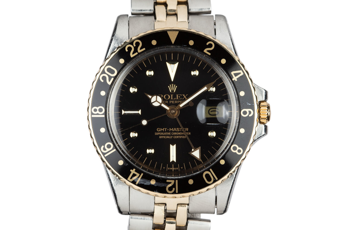 1970 Rolex Two-Tone GMT-Master with Black Nipple Dial photo, #0