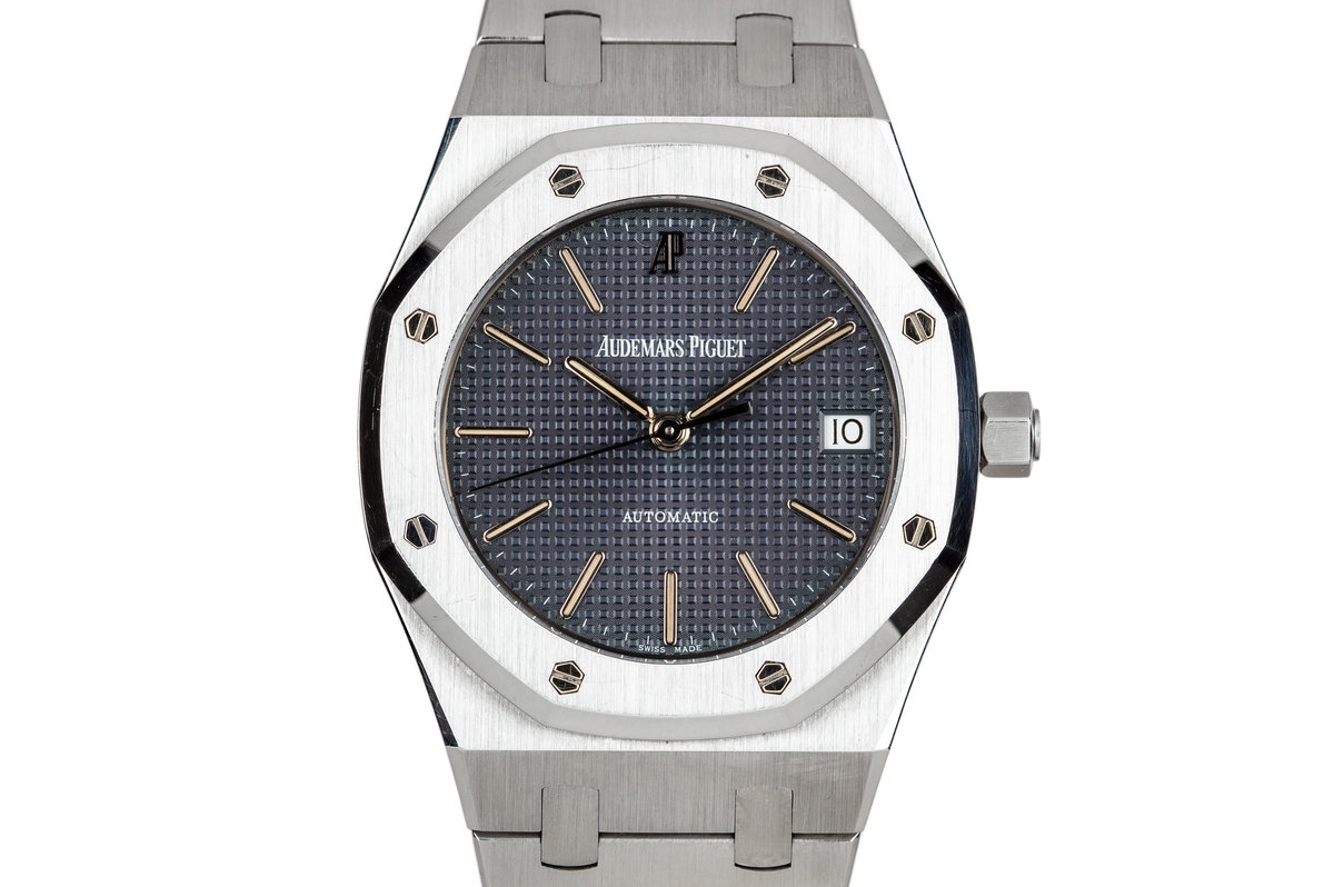 1996 Audemars Piguet Royal Oak 14790ST Black Dial with Box, Papers, and Service Papers photo, #0