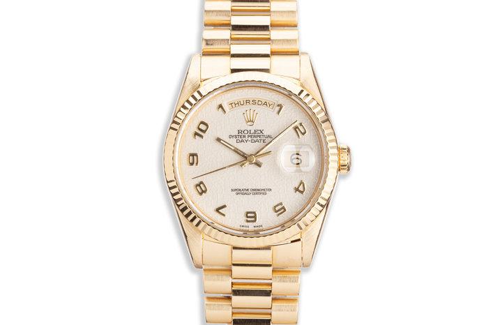 1989 Rolex 18K YG Day-Date 18238 Cream Jubilee Dial photo