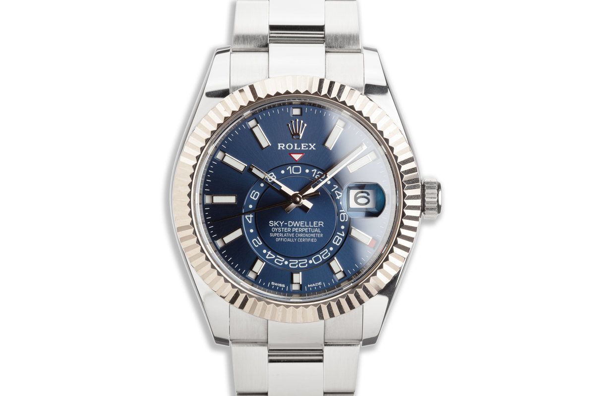 2020 Rolex Sky-Dweller 326934 Blue Dial with Box & Card photo, #0