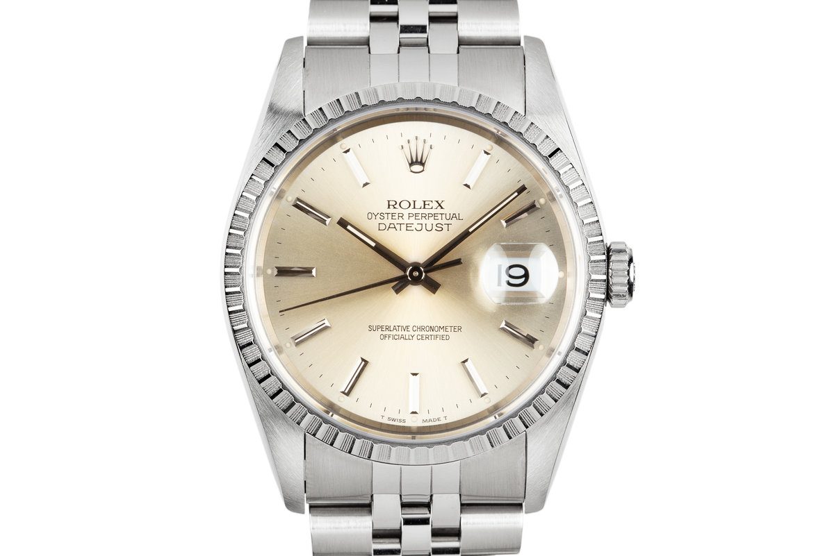 1991 Rolex DateJust 16220 Silver Dial photo, #0