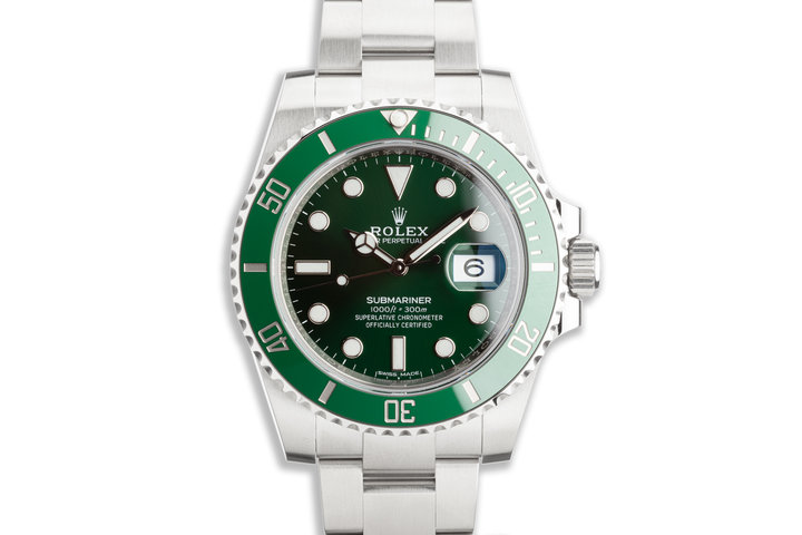 "2020 Rolex Green Submariner 116610LV ""Hulk"" with Box and Card photo"