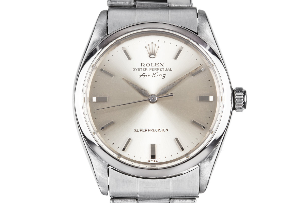1964 Rolex Air-King 5500 with SWISS only Silver Dial photo, #0