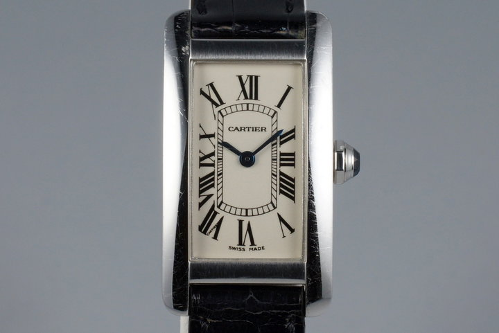 Cartier Ladies WG Tank Americaine 1713 with Box photo